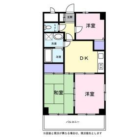 和田町駅 徒歩5分5階Fの間取り画像