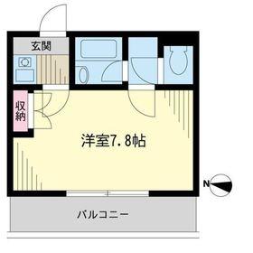 明光上石神井マンション3階Fの間取り画像