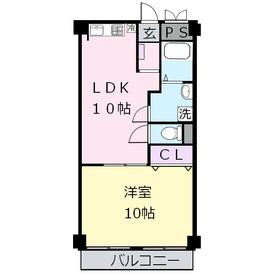 久科マンション2階Fの間取り画像