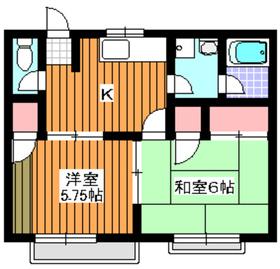エクレール赤塚B棟2階Fの間取り画像