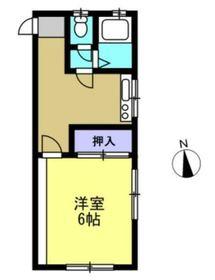 桜ヶ丘マンション2階Fの間取り画像
