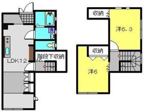 ダイユー43番館1階Fの間取り画像