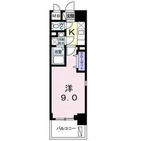 ラ ルーチェ7階Fの間取り画像