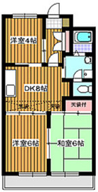 平和台駅 徒歩17分2階Fの間取り画像