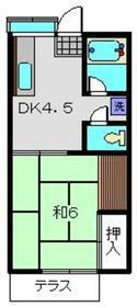 新丸子駅 徒歩7分2階Fの間取り画像