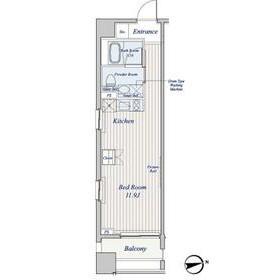 コスモグラシア芝大門8階Fの間取り画像