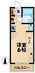 ベルノ212階Fの間取り画像