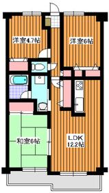 地下鉄赤塚駅 徒歩2分5階Fの間取り画像