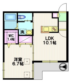 駒沢パークコート1階Fの間取り画像