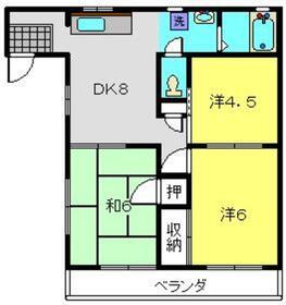 SKハイツ1階Fの間取り画像