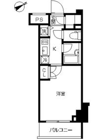 スカイコート品川大崎7階Fの間取り画像