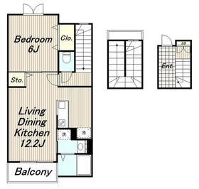 オーチャードイレブン3階Fの間取り画像