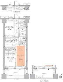 北千束駅 徒歩4分6階Fの間取り画像