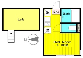 登戸駅 徒歩23分1階Fの間取り画像