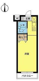 スカイコート高円寺第22階Fの間取り画像