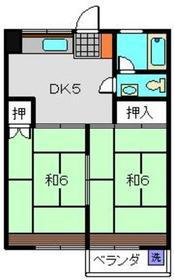 安田マンション2階Fの間取り画像