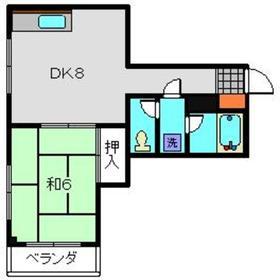 佐藤ビル2階Fの間取り画像