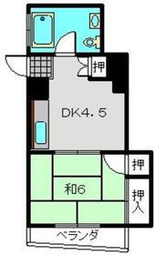 萩霞ビル2階Fの間取り画像