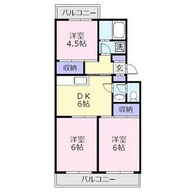 JUN上福岡3階Fの間取り画像
