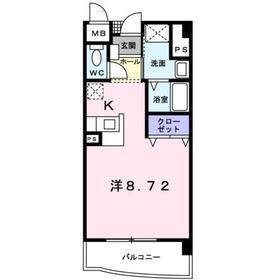 ベラルデ7階Fの間取り画像