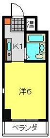 ヤスダハイネスト3階Fの間取り画像