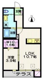 マイ・ドリーム1階Fの間取り画像