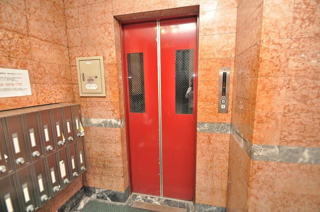 エイチ・ツーオー高井田ビル エレベーター付き。これで重たい荷物があっても安心ですね。