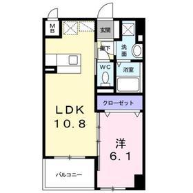 八王子駅 徒歩14分7階Fの間取り画像