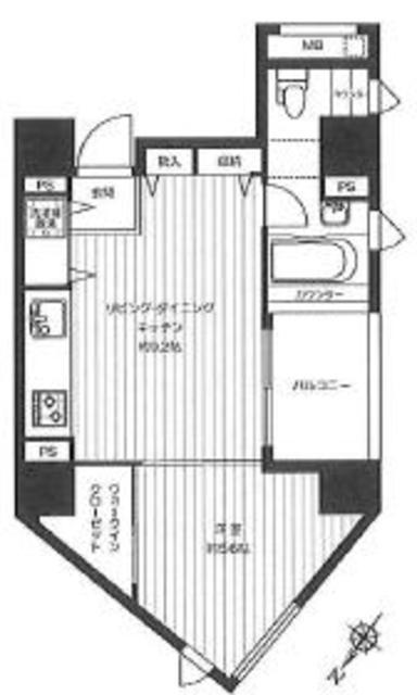 麻布十番駅 徒歩3分間取図