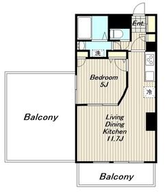 モンパルテ4階Fの間取り画像