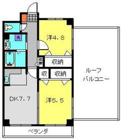 セゾンドカサハラⅡ4階Fの間取り画像