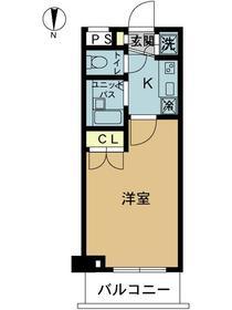 スカイコート東京ベイ東雲2階Fの間取り画像
