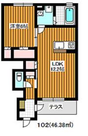 成増駅 徒歩18分1階Fの間取り画像