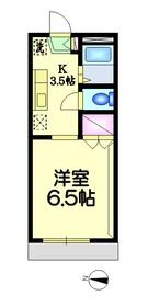 フラット・アキヤマ2階Fの間取り画像