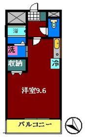 コンフォースK2階Fの間取り画像