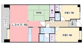 姪浜パーク・ホームズ4階Fの間取り画像