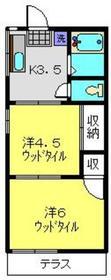 ハイムマツザキ1階Fの間取り画像
