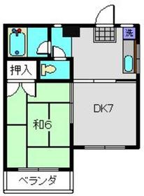 北山田駅 徒歩17分2階Fの間取り画像