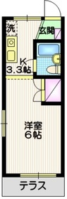村井ハイツ1階Fの間取り画像
