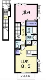 クァトルズ・ソレイユ2階Fの間取り画像