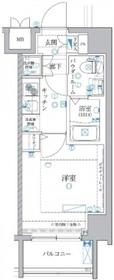 レアライズ川崎8階Fの間取り画像
