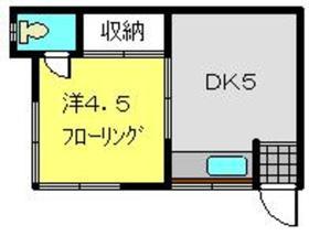 片倉町駅 徒歩15分2階Fの間取り画像