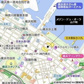 関内駅 徒歩12分案内図