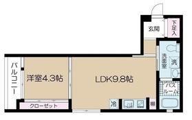 北千束駅 徒歩21分1階Fの間取り画像