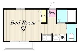 バンビードII2階Fの間取り画像
