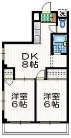 ドミールK4階Fの間取り画像