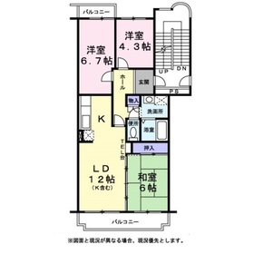 シンパティア2階Fの間取り画像