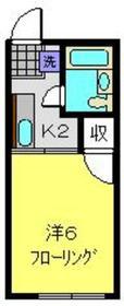シティハイム中田B2階Fの間取り画像
