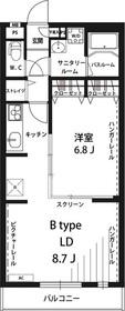 武蔵新城駅 バス5分「子母口小学校入口」徒歩5分2階Fの間取り画像