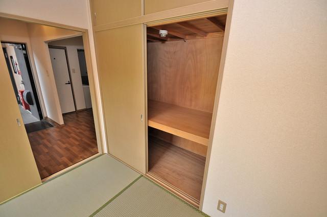 サンビレッジ・ラポール 収納がたくさんあると、お部屋がすっきり片付きますね。